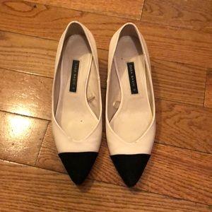 Zara block heel pumps